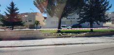 Un vehículo se lleva el muro del parque de Los Pajaritos