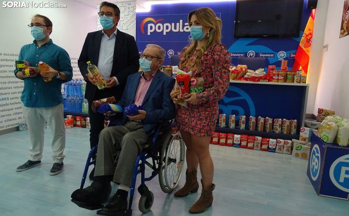 Raquel López, Ángel Crespo, Jesús Peregrina y Alejandro Ramos este lunes en la sede del PP soriano. /SN
