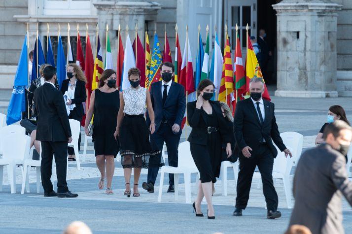 Mañueco durante el homenaje de Estado a las víctimas.