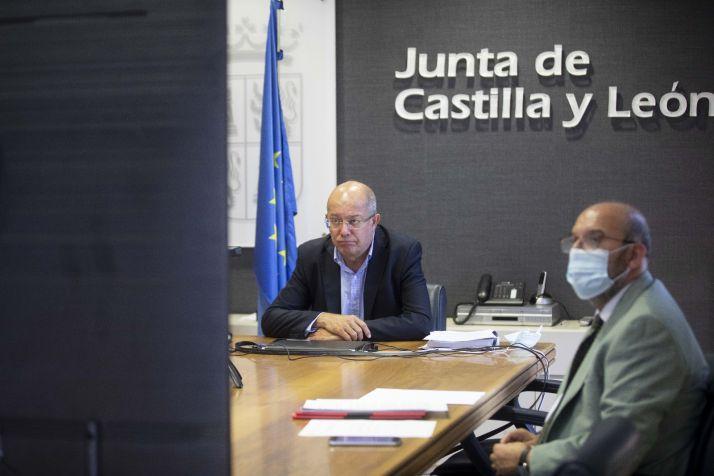 Francisco Igea durante la videoconferencia.