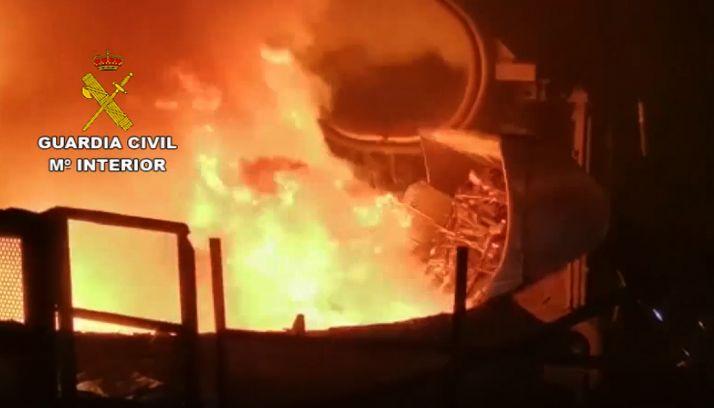 Una imagen del proceso de destrucción de armas que lleva a cabo la Guardia Civil. /GC