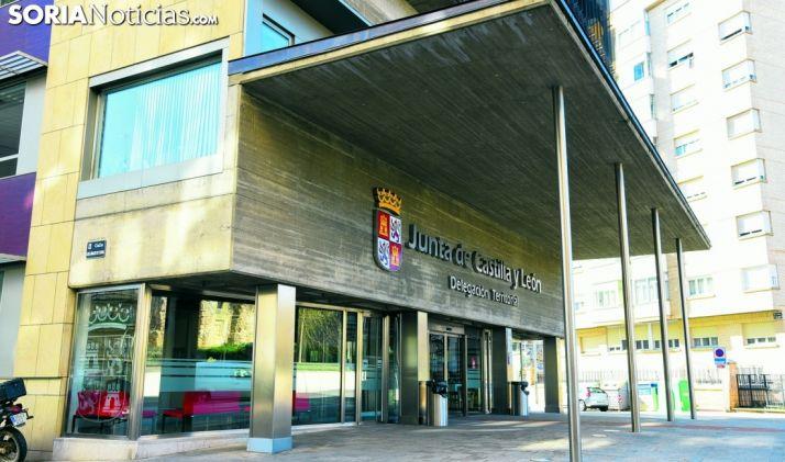 Entrada a la sede principial de la Delegación de la Junta en Soria. /SN