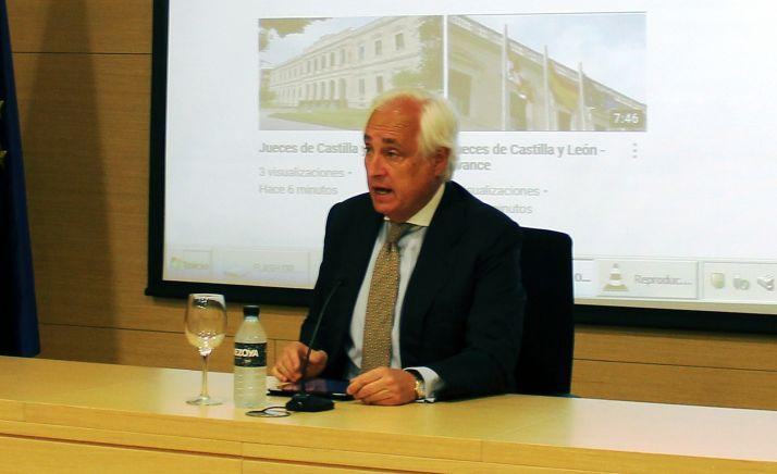 José Luis Concepción, en rueda informativa este lunes. /TSJCyL