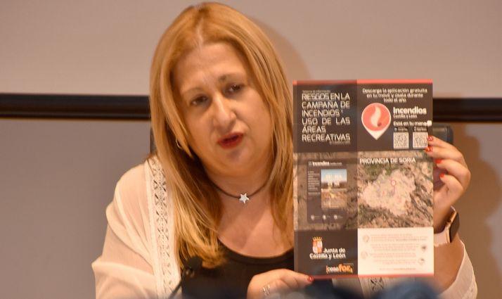 Yolanda de Gregorio, este miércoles en la presentación de la campaña. /Jta.
