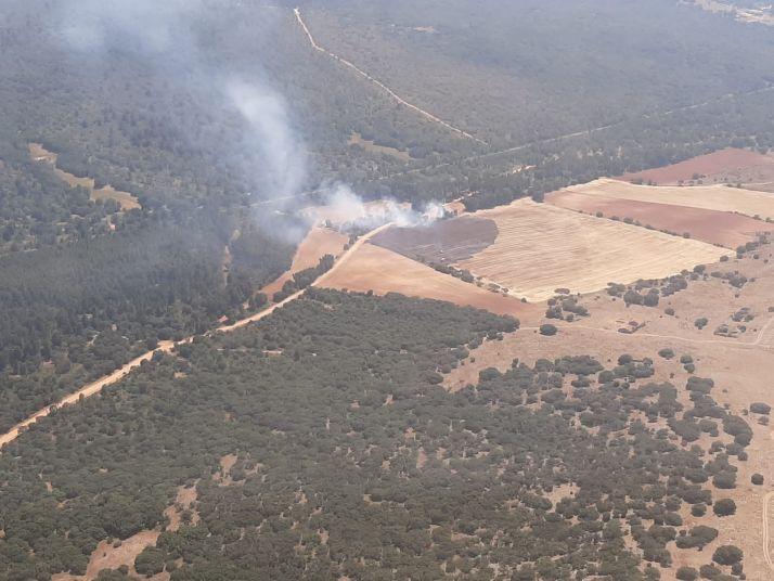 Imagen del incendio de Ventosilla. /Brif de Lubia
