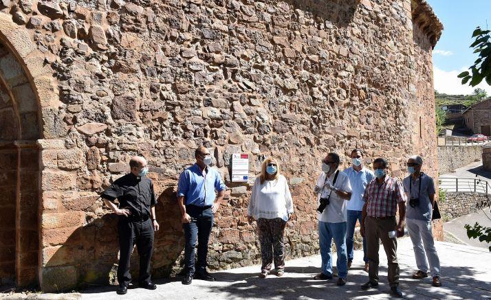Una imagen de la visita oficial al templo este jueves. /Jta.