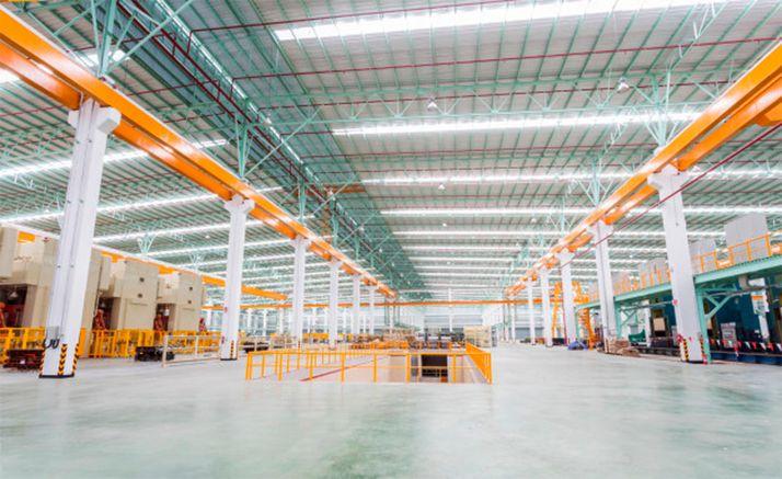 Imagen de unas instalaciones industriales sin actividad.