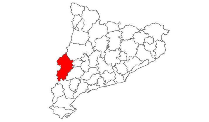 La comarca del Sergià que incluye a la capital leridana.