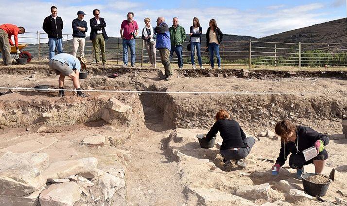 Una de las campañas de excavaciones arqueológicas en el yacimiento.