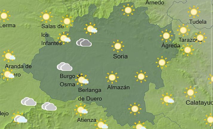 El cielo de la provincia a las 14:00 horas. /AEMET