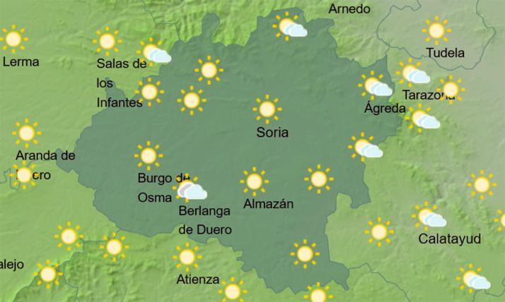 El cielo en la provincia a las 15:00 horas. /AEMET