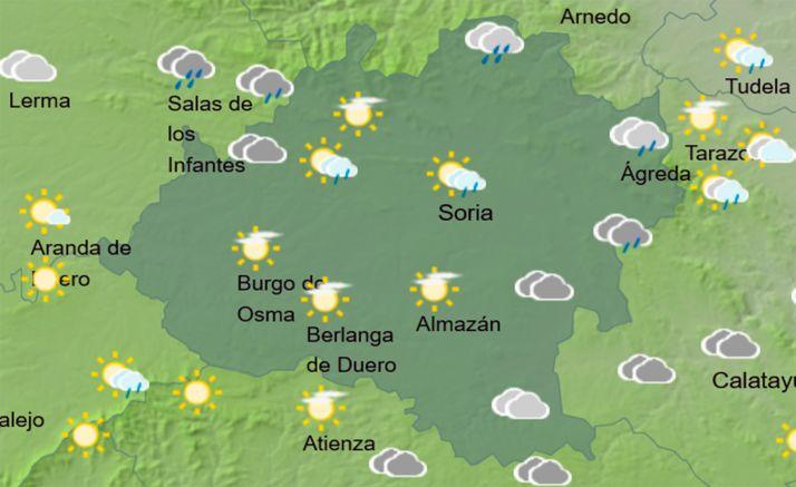 Pronóstico del cielo a las 16:00 horas. /AEMET