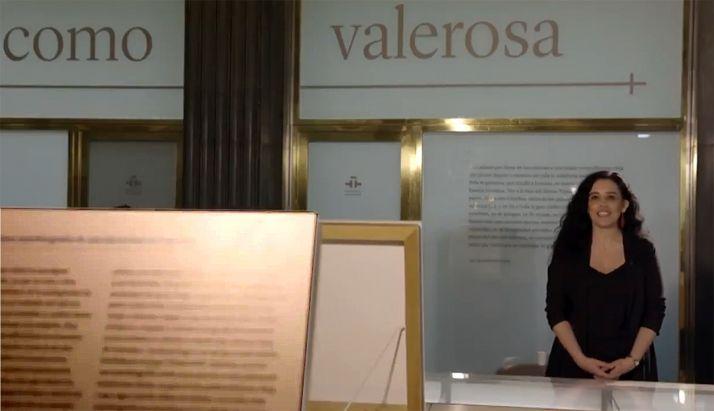 Ana María Rodríguez-Rodríguez, comisaria de la muestra, habla de Sor María.
