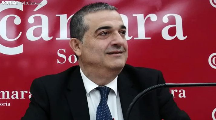 Alberto Santamaría, presidente de la Cámara de Comercio e Industria de Soria. /SN