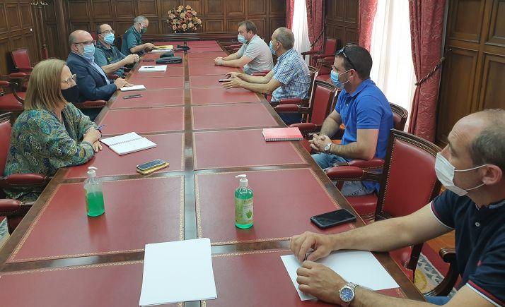 Una imagen de la reunión este miércoles en la sede del Gobierno en la provincia. /Subdelegación
