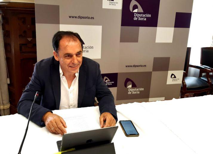 Benito Serrano durante la rueda de prensa.