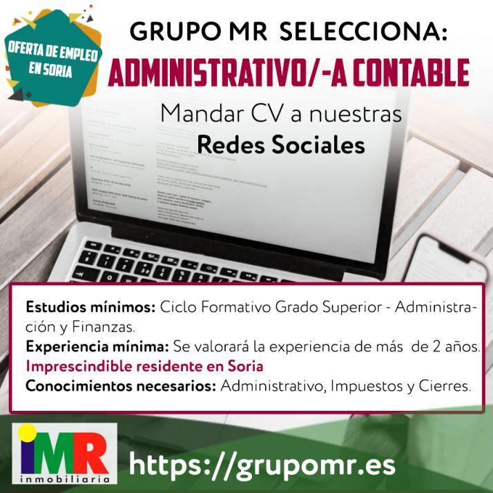 Foto 2 - Empleo en Soria: Se busca administrativo – contable