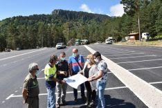 El aparcamiento del Paso de la Serrá, en la Laguna Negra, prácticamente concluido