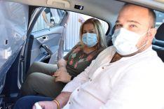 Foto 2 - La Junta entrega mamparas anticontagio a los 83 taxistas de Soria