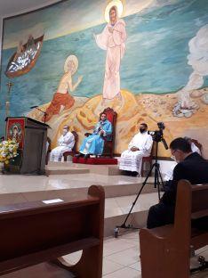 La primera misa pronunciada por el nuevo sacerdote.