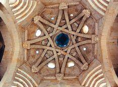 Bóveda de estilo mudejar en la iglesia de San Miguel.
