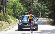 Foto 4 - Vuelta a España: Perico Delgado sube a la Laguna Negra para RTVE