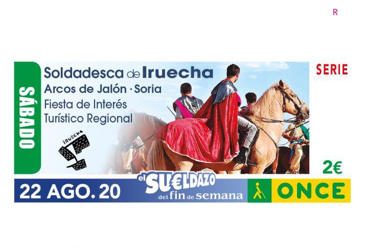 Foto 1 - La ONCE presenta el cupón que dedica a La Soldadesca de Iruecha