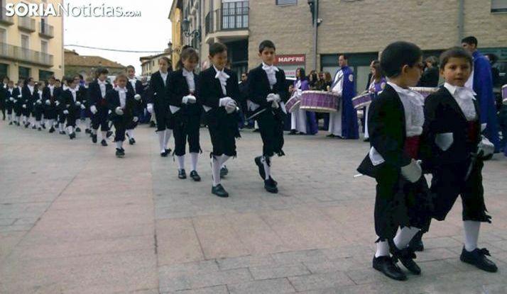 Alumbrantes en Ágreda durante la Semana Santa. /SN