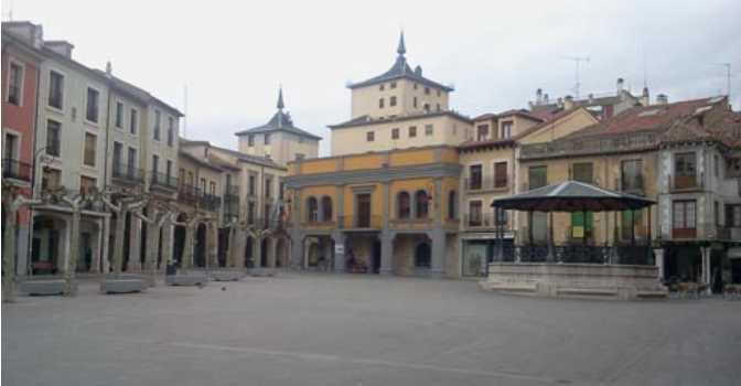 Plaza Mayor de Aranda.