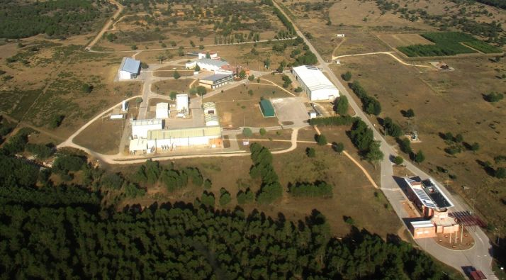 Imagen aérea de las instalacioes en Lubia