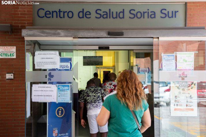Nueva normalidad en el Centro de Salud Soria Sur. /María Ferrer