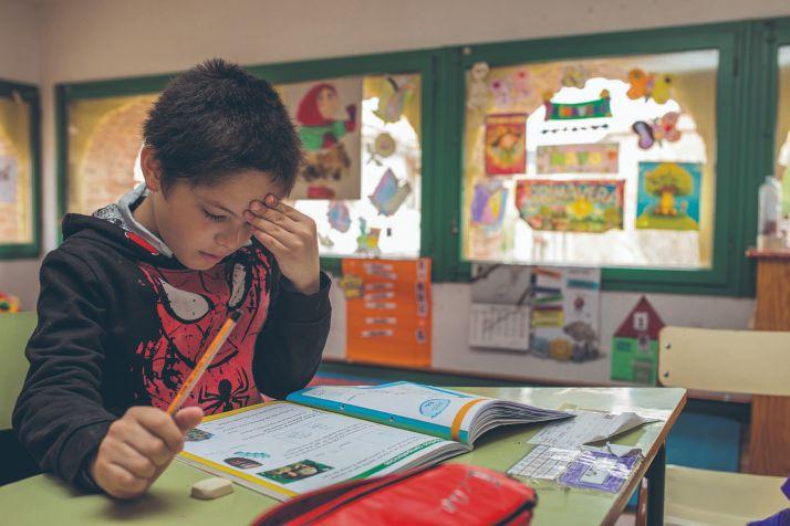 Un alumnos del CRA de Yanguas.