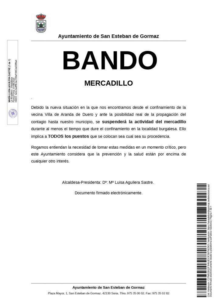 Bando de San Esteban de Gormaz.