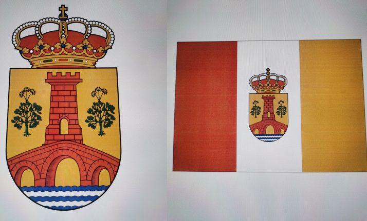 El escudo y la bandera propuestos como emblemas municipales.