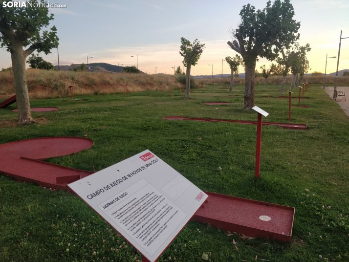 Foto 2 - ¿Sabes dónde está el único minigolf al aire libre en la ciudad de Soria?