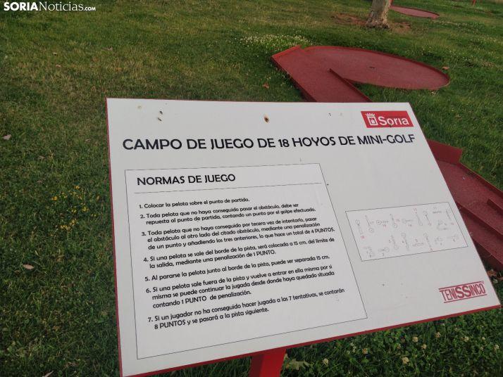 ¿Sabes dónde está el único minigolf al aire libre en la ciudad de Soria?