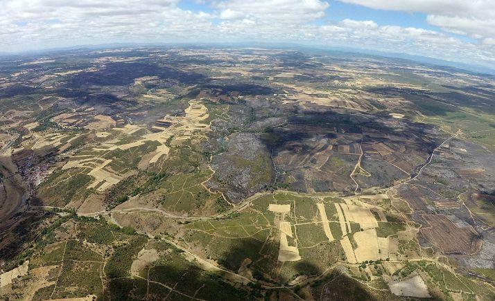 Vista aérea de la zona afectada. /Jta.