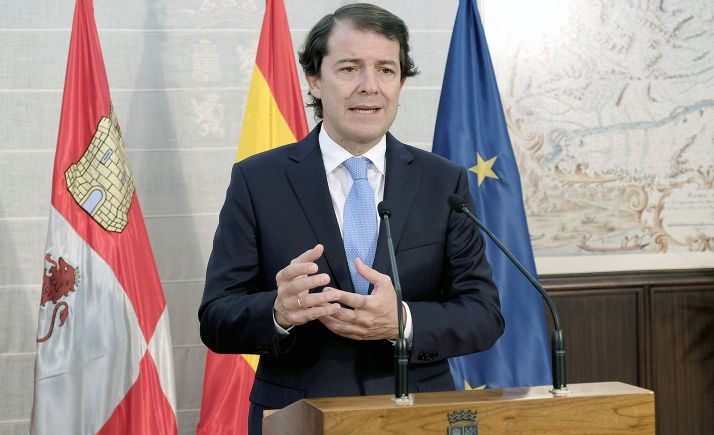 Mañueco, en la declaración institucional ofrecida hoy. /Jta.