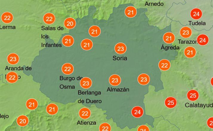 Foto 1 - El tiempo en Soria: Mejoría de las temperaturas diurnas
