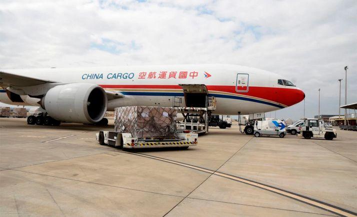 Descarba de material de protección covid para CyL procedente de China. /Jta.