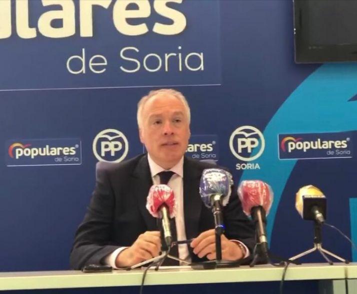 Muñoz Remacha, portavoz del PP en el Ayuntamiento de Soria.