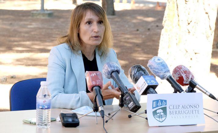 Rocío Lucas, este miércoles en su comparecencia ante los medios informativos. /Jta.