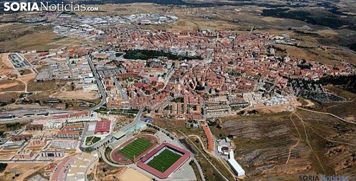 Vista aérea de la capital.