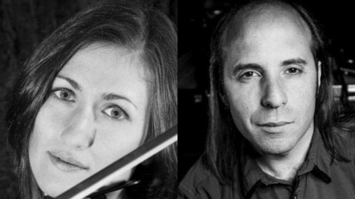 Foto 1 - Adela torres (violín) y Rubén Romero (piano) en el Festival Soria Clásica