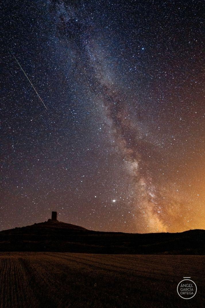 Foto 1 - Espectacular foto de las perseidas en el cielo soriano