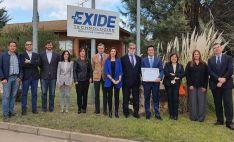 Entrega del reconocimiento a la firma sanestebeña Exide Technologies. /FOES
