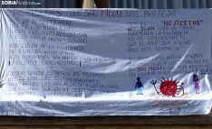 El mensaje para este año instalado en el balcón municipal. /SN