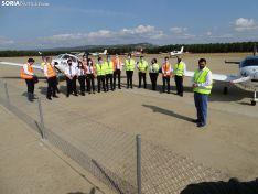 Una imagen de la jornada en el aeródromo de Garray. /SN