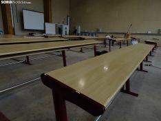 Una de las estancias interiores hoy del edificio de I D i del Campus. /SN