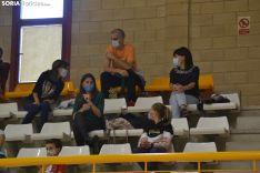 Una imagen del encuentro esta tarde en el pabellón de Los Pajaritos. /SN